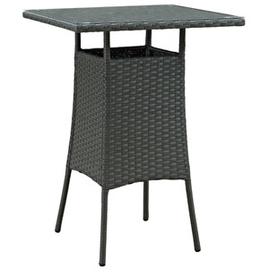 Sojourn Small Outdoor Patio Bar Table in Chocolate