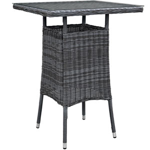 Summon Small Outdoor Patio Bar Table in Gray