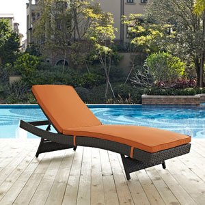 Sojourn Outdoor Patio Sunbrella® Chaise in Canvas Tuscan