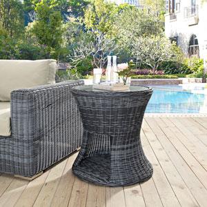 Summon Outdoor Patio Side Table in Gray