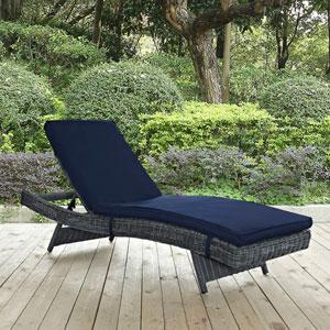 Summon Outdoor Patio Sunbrella® Chaise in Canvas Navy