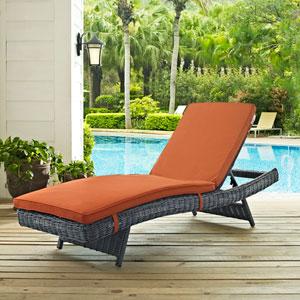Summon Outdoor Patio Sunbrella® Chaise in Canvas Tuscan