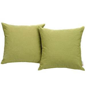 Convene Two Piece Outdoor Patio Pillow Set in Peridot