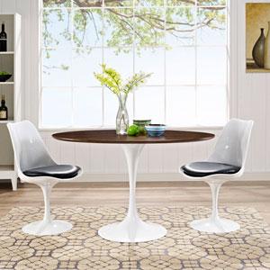 Lippa 48-inch Oval-Shaped Walnut Dining Table in Walnut
