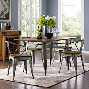 Alacrity 59-inch Rectangle Wood Dining Table in Brown