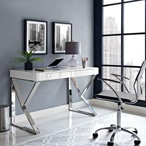 Adjacent Desk in White