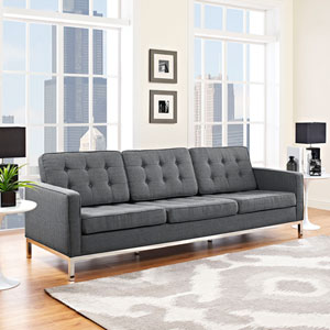 Loft Fabric Sofa in Gray