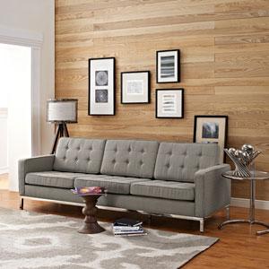 Loft Fabric Sofa in Granite