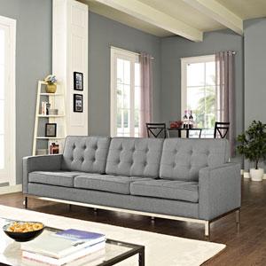 Loft Fabric Sofa in Light Gray