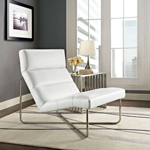 Reach Lounge Chair in White