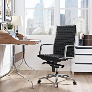 Pattern Highback Office Chair in Black