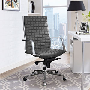 Pattern Highback Office Chair in Gray
