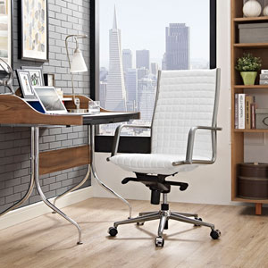 Pattern Highback Office Chair in White