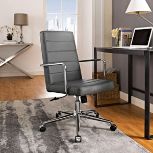 Cavalier Highback Office Chair in Gray