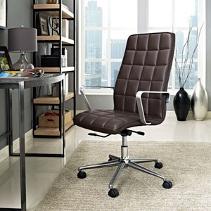Tile Highback Office Chair in Brown