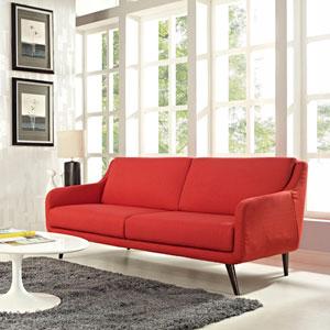 Verve Sofa in Atomic Red