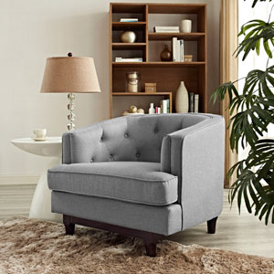 Coast Armchair in Light Gray