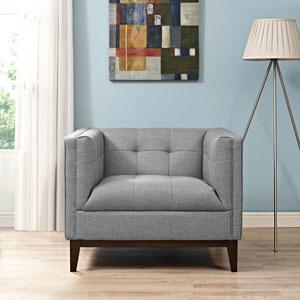 Serve Armchair in Light Gray