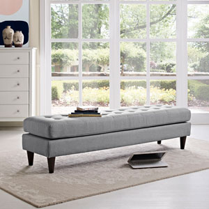 Empress Bench in Light Gray