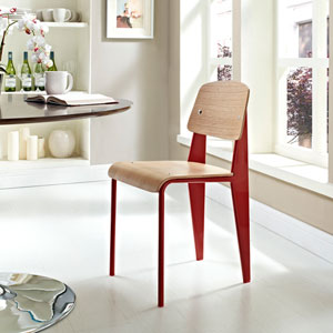 Cabin Dining Side Chair in Natural Red