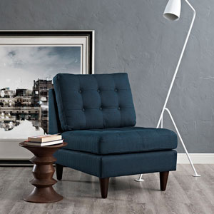 Empress Lounge Chair in Azure