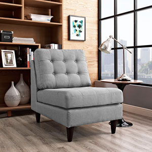 Empress Lounge Chair in Light Gray