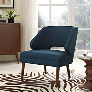 Dock Fabric Armchair in Azure