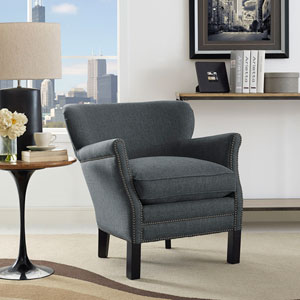 Key Fabric Armchair in Gray