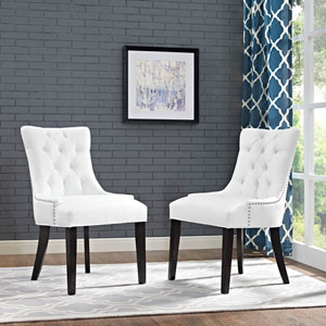 Regent Vinyl Dining Chair in White