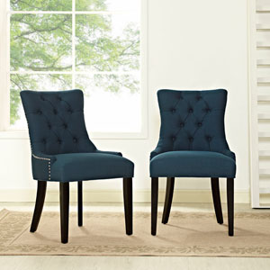 Regent Fabric Dining Chair in Azure