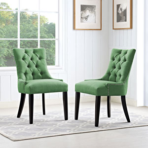 Regent Fabric Dining Chair in Green