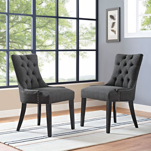 Regent Fabric Dining Chair in Gray
