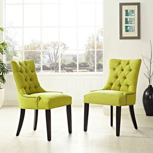 Regent Fabric Dining Chair in Wheatgrass