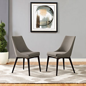 Viscount Fabric Dining Chair in Granite