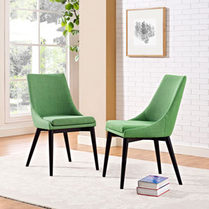 Viscount Fabric Dining Chair in Green