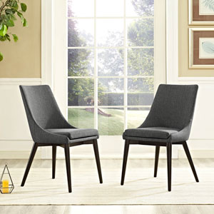 Viscount Fabric Dining Chair in Gray