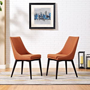 Viscount Fabric Dining Chair in Orange