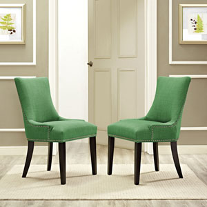 Marquis Fabric Dining Chair in Green