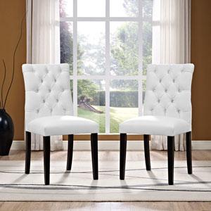 Duchess Vinyl Dining Chair in White