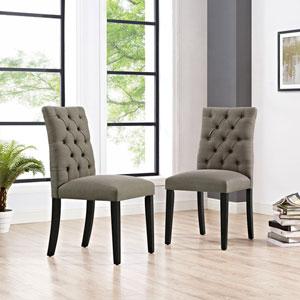Duchess Fabric Dining Chair in Granite