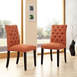 Duchess Fabric Dining Chair in Orange