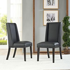 Baron Vinyl Dining Chair in Black