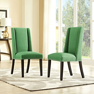 Baron Fabric Dining Chair in Green