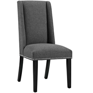 Baron Fabric Dining Chair in Gray