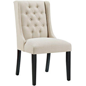 Baronet Fabric Dining Chair in Beige