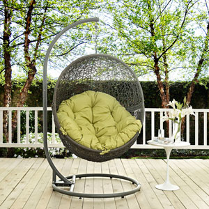 Hide Outdoor Patio Swing Chair in Gray Peridot