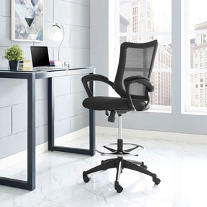 Project Drafting Stool in Black