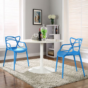 Entangled Dining Set  of 2 in Blue