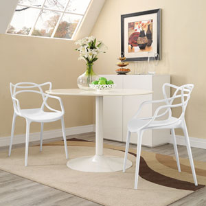 Entangled Dining Set  of 2 in White