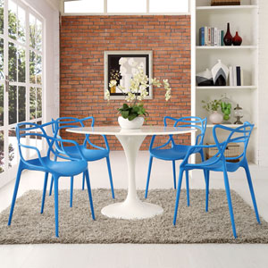 Entangled Dining Set  of 4 in Blue